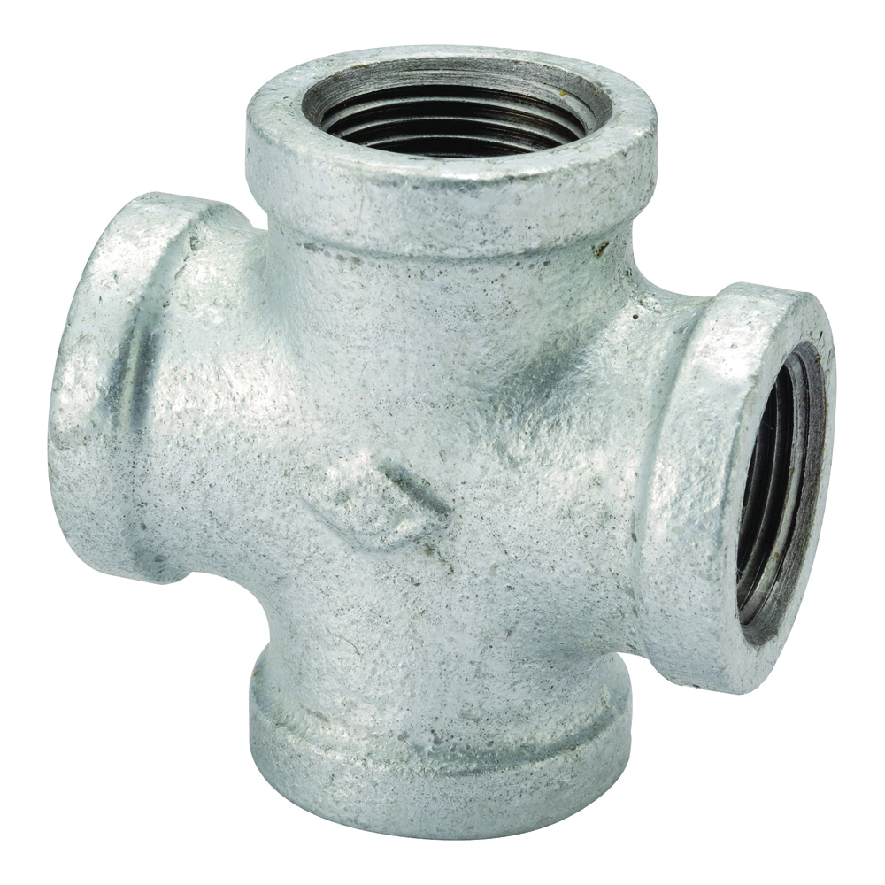 Picture of ProSource 0745 Galvanized Pipe Cross, 1/2 in