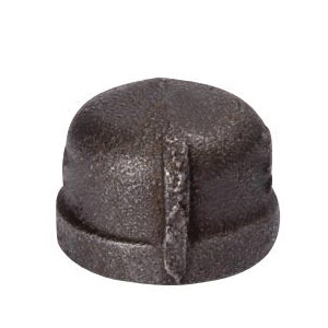 Picture of ProSource B300 8 Black Cap, 1/4 in, FIP, #150 Malleable Iron, 300 psi Pressure