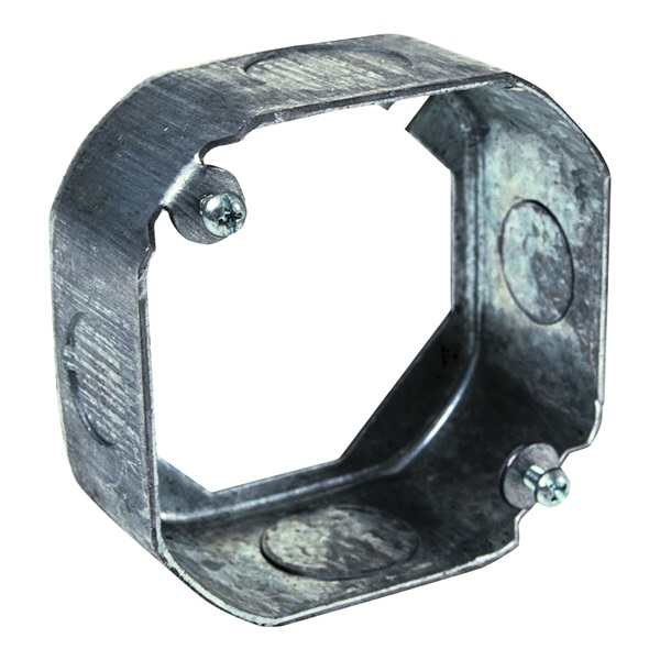 Picture of Orbit 4RB-MKO-EXT Switch Box, 1-1/2 in L, 4 in W, 1-Gang, 4-Knockout, Galvanized Steel, Gray