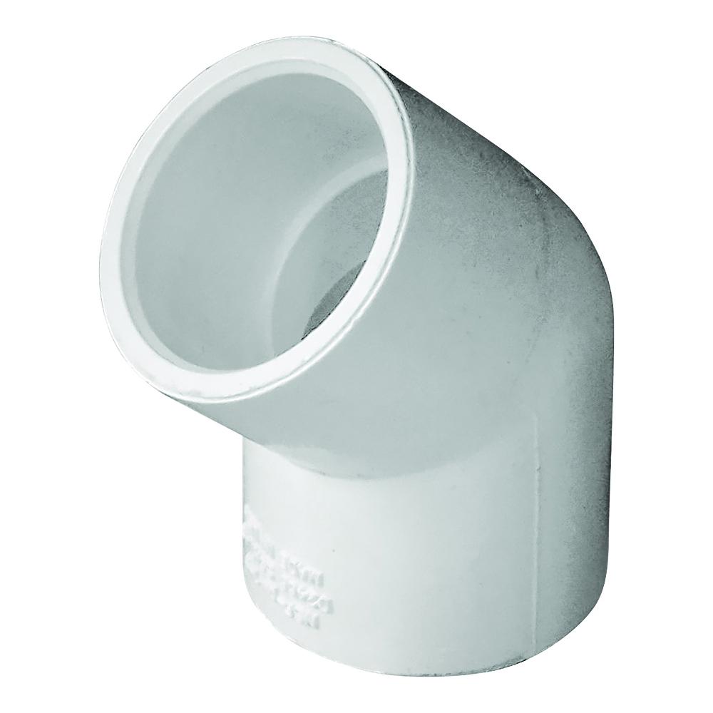 Picture of GENOVA 300 30607 Pipe Elbow, 3/4 in, Slip, 45 deg Angle, PVC, White, SCH 40 Schedule