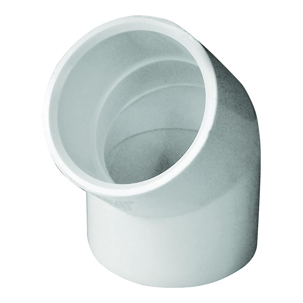 Picture of GENOVA 300 30614 Pipe Elbow, 1-1/4 in, Slip, 45 deg Angle, PVC, White, SCH 40 Schedule