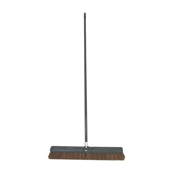 Picture of BIRDWELL 4024-4 Contractor Push Broom, 3 in L Trim, Palmyra Fiber Bristle