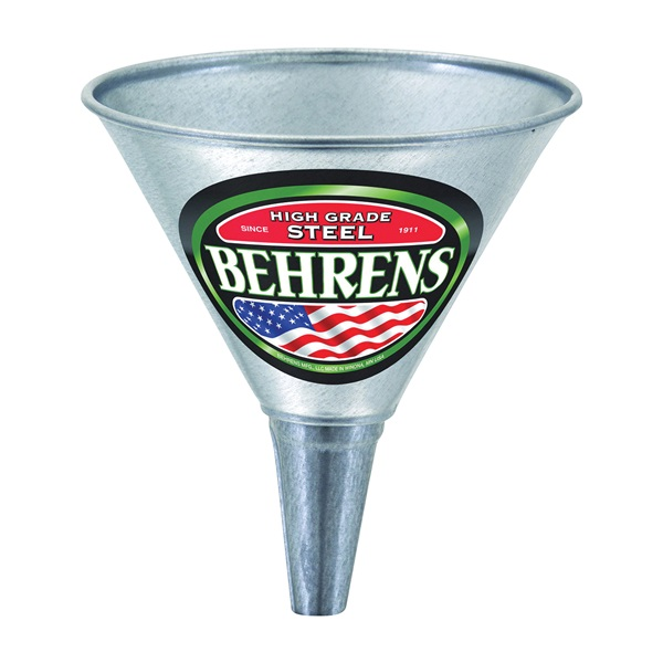 Picture of Behrens GF51 Funnel with Screen, 1 qt Capacity, Galvanized Steel, 7 in H