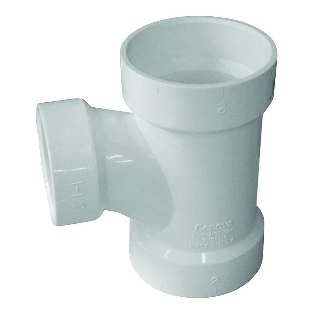 Picture of GENOVA 700 71131 Reducing Sanitary Tee, 3 x 1-1/2 in, Hub, PVC, SCH 40 Schedule