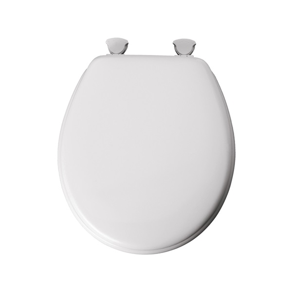 Picture of BEMIS 44EC-000 Toilet Seat, Round, Molded Wood, White, Twist Hinge