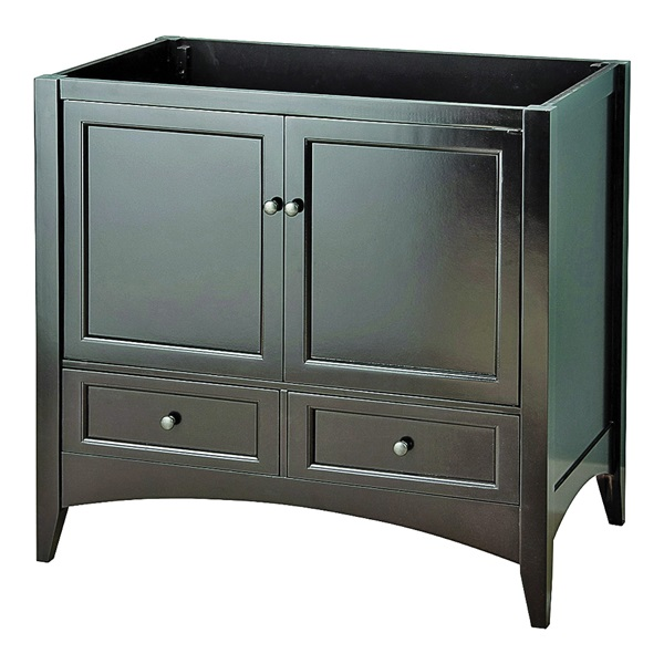 Picture of Foremost Berkshire BECA3621D Bathroom Vanity, Solid Wood, Espresso, Free-Standing Installation, 2-Drawer