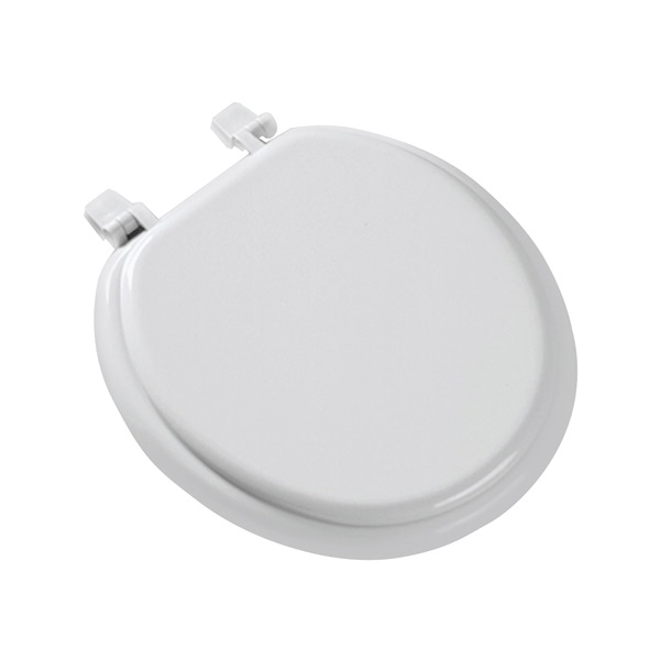 Picture of BEMIS 66TT-000 Toilet Seat, Round, Molded Wood, White, Top-Tite Hinge