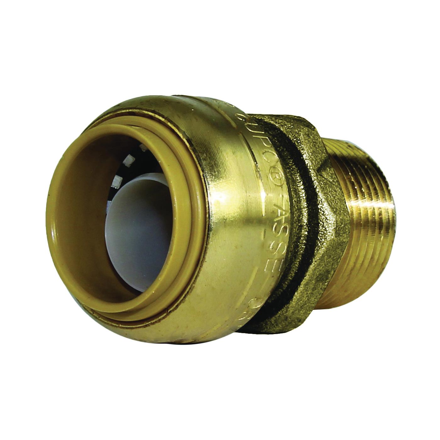 Picture of SharkBite U134LFA Pipe Connector, 3/4 in, MNPT x MNPT, Brass, 200 psi Pressure