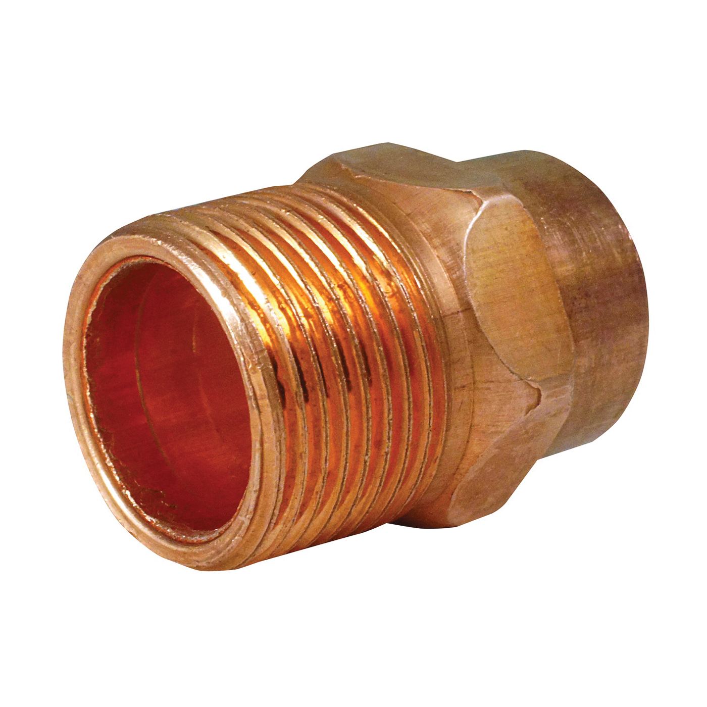 Picture of EPC 104 Series 30300 Pipe Adapter, 3/8 in, Sweat x MNPT, Copper