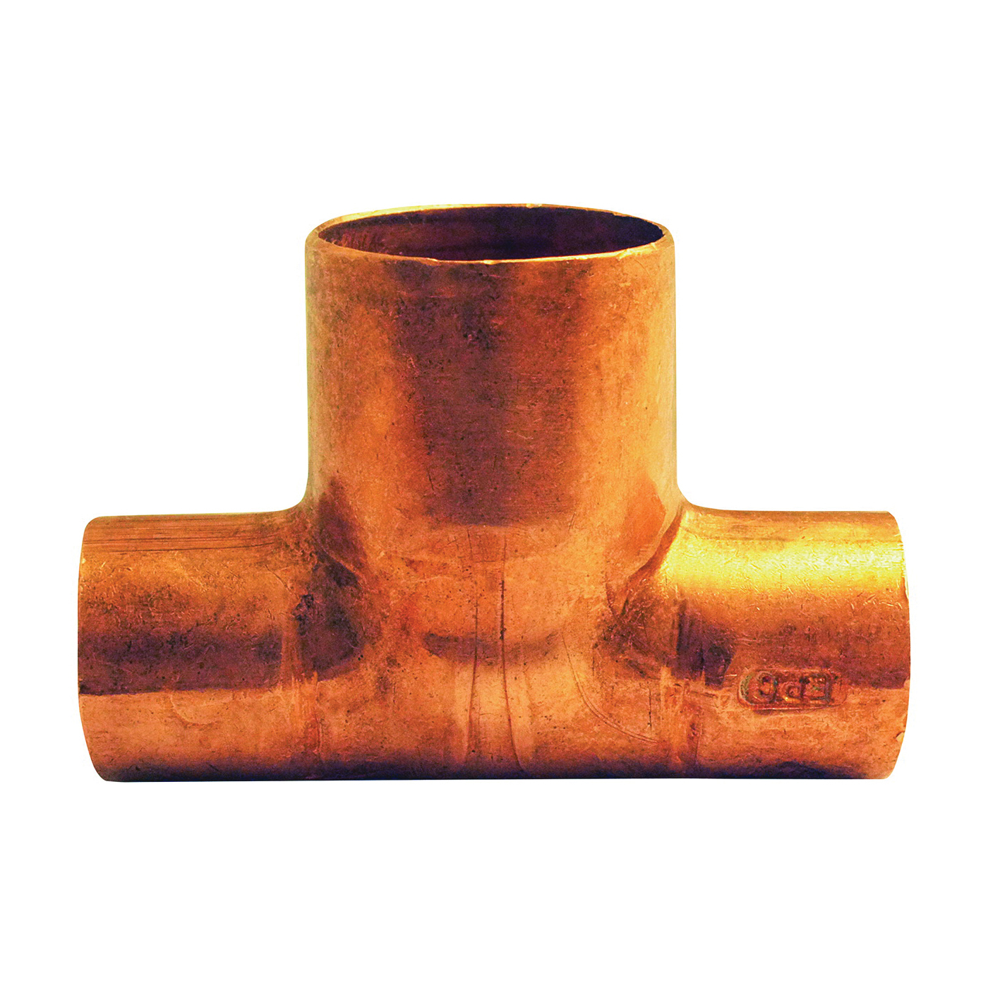 Picture of EPC 111BH Series 32704 Bullhead Tee, 1/2 x 1/2 x 3/4 in, Sweat, Copper