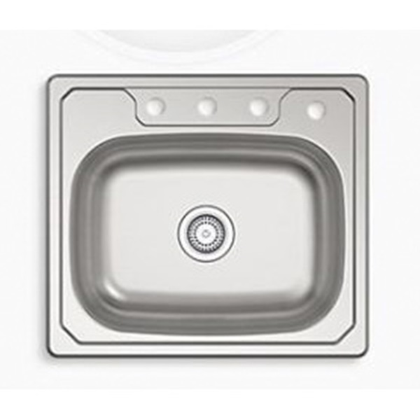 Picture of Sterling Middleton 14631-4-NA Kitchen Sink, 4-Faucet Hole, 22 in OAW, 6 in OAD, 25 in OAH, Stainless Steel