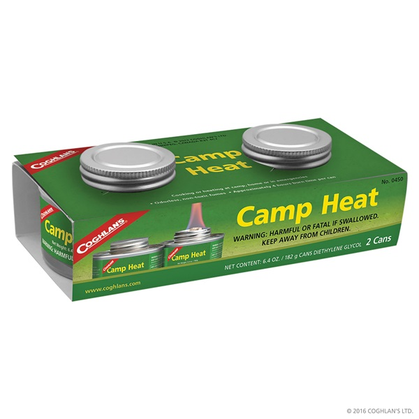 Picture of COGHLAN'S 0450 Camp Heat, 6.4 oz Package, Can, 4 hr Burn Time