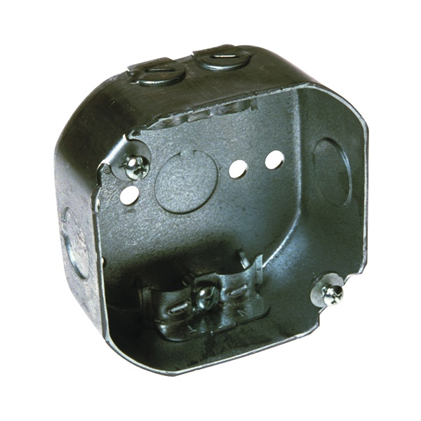 Picture of RACO 146 Octagon Box, 4 in OAW, 1-1/2 in OAD, 4 in OAH, 1-Gang, 3-Knockout, Galvanized Steel Housing Material