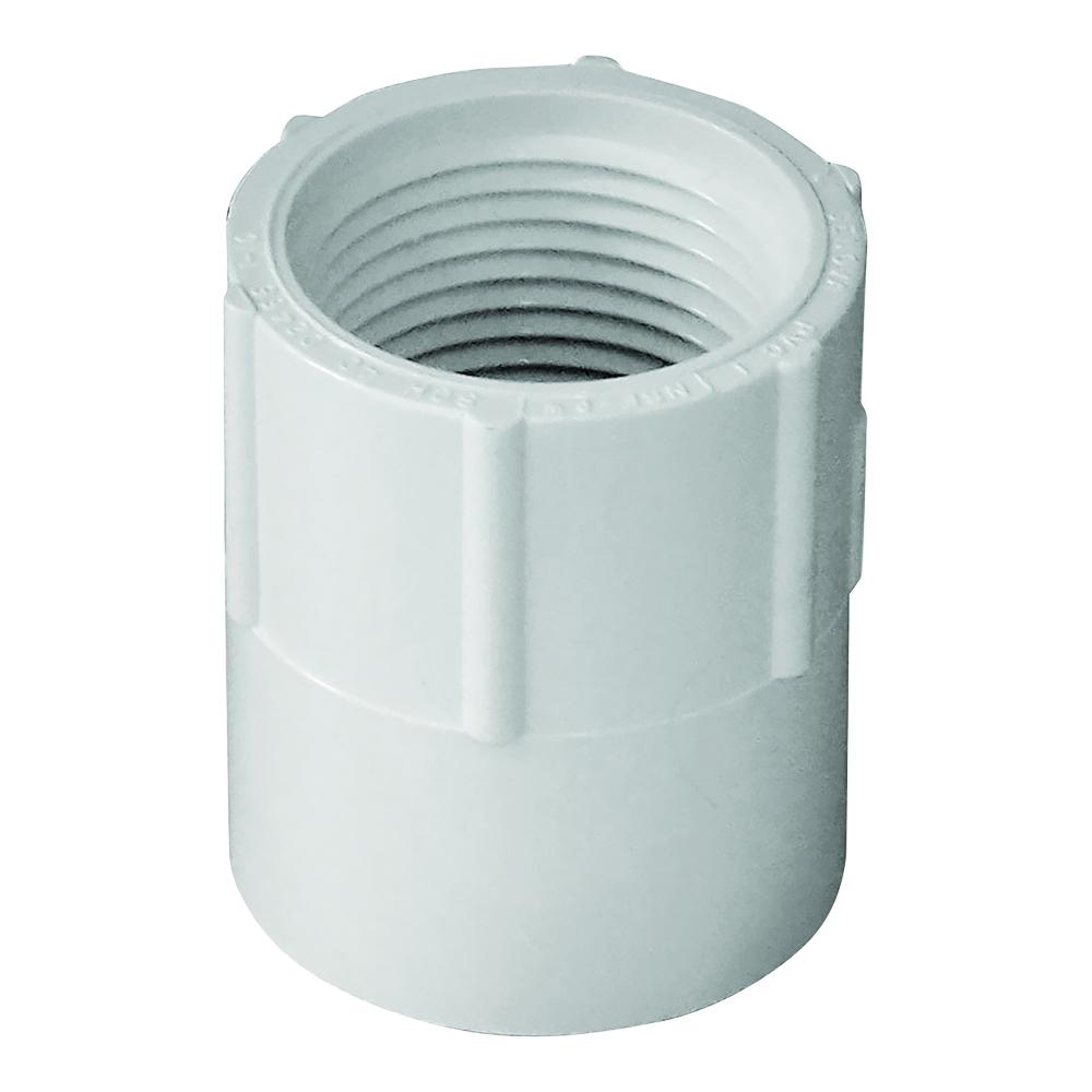 Picture of GENOVA 300 30307 Pipe Adapter, 3/4 in, Slip x FIP, PVC, White, SCH 40 Schedule