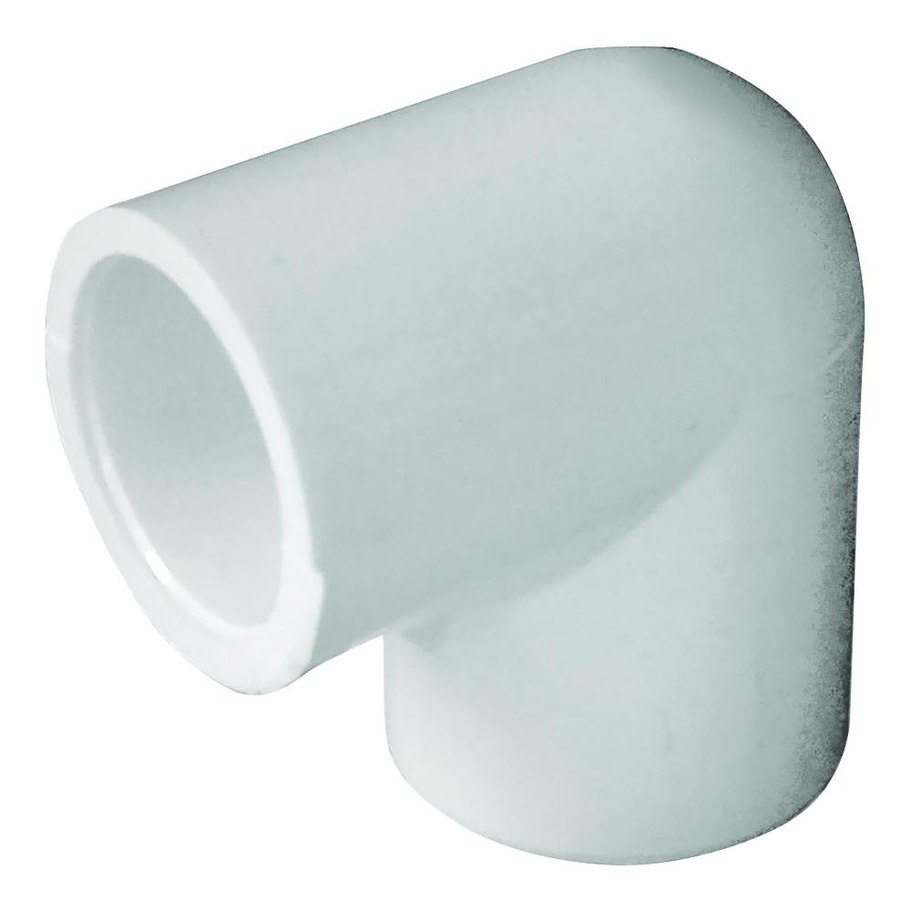 Picture of GENOVA 300 435519/30705 Pipe Elbow, 1/2 in, Slip, 90 deg Angle, PVC, White, SCH 40 Schedule