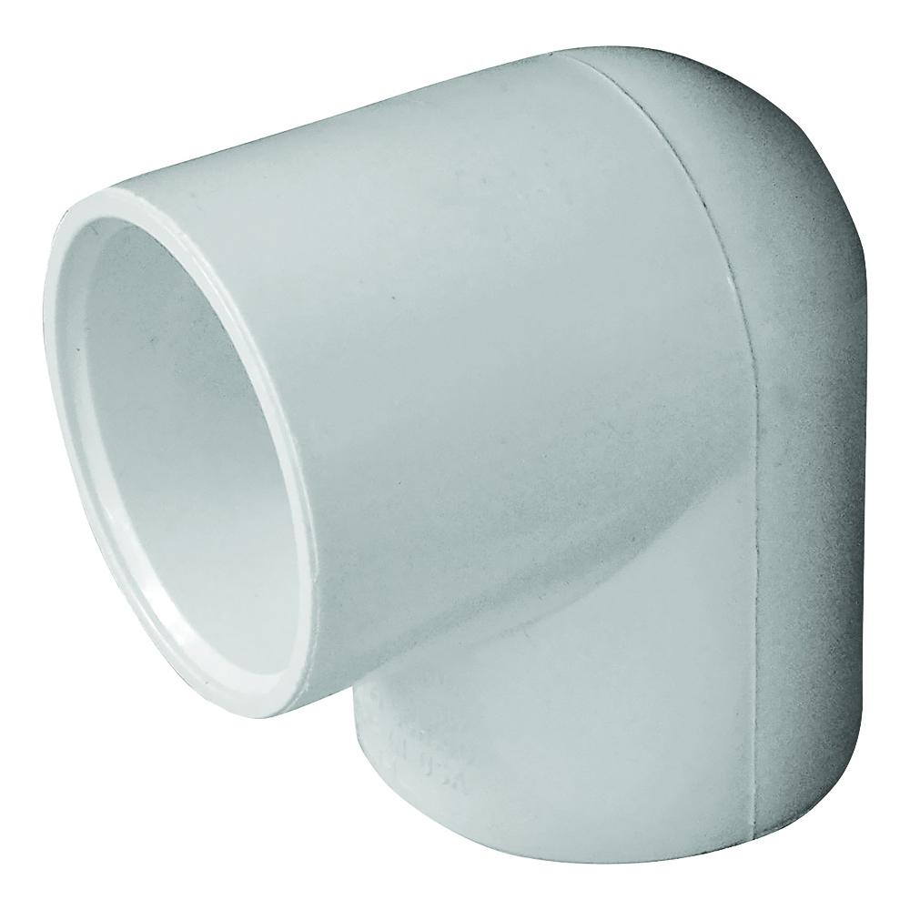 Picture of GENOVA 300 435522/30714 Pipe Elbow, 1-1/4 in, Slip, 90 deg Angle, PVC, White, SCH 40 Schedule