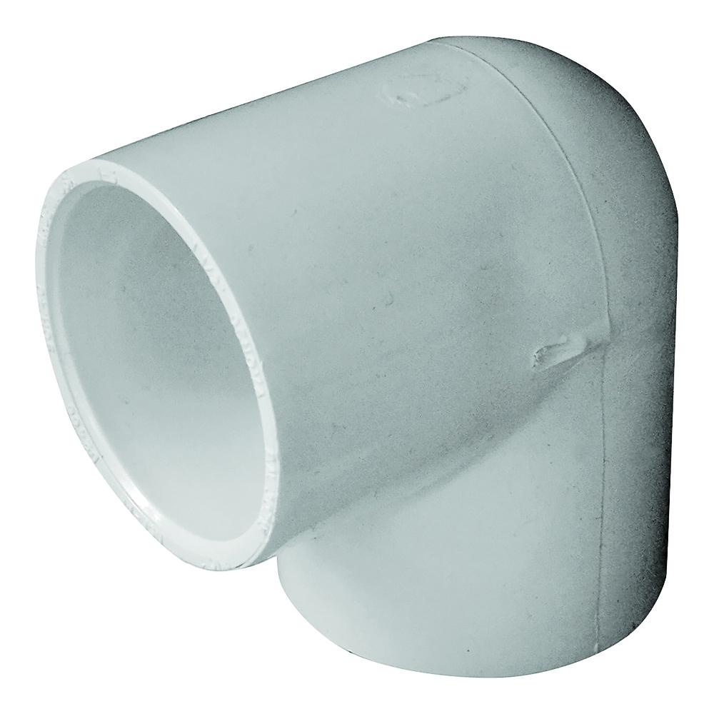 Picture of GENOVA 300 435523/30715 Pipe Elbow, 1-1/2 in, Slip, 90 deg Angle, PVC, White, SCH 40 Schedule