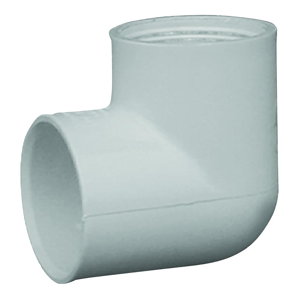 Picture of GENOVA 300 33910 Pipe Elbow, 1 in, Slip x FIP, 90 deg Angle, PVC, White, SCH 40 Schedule