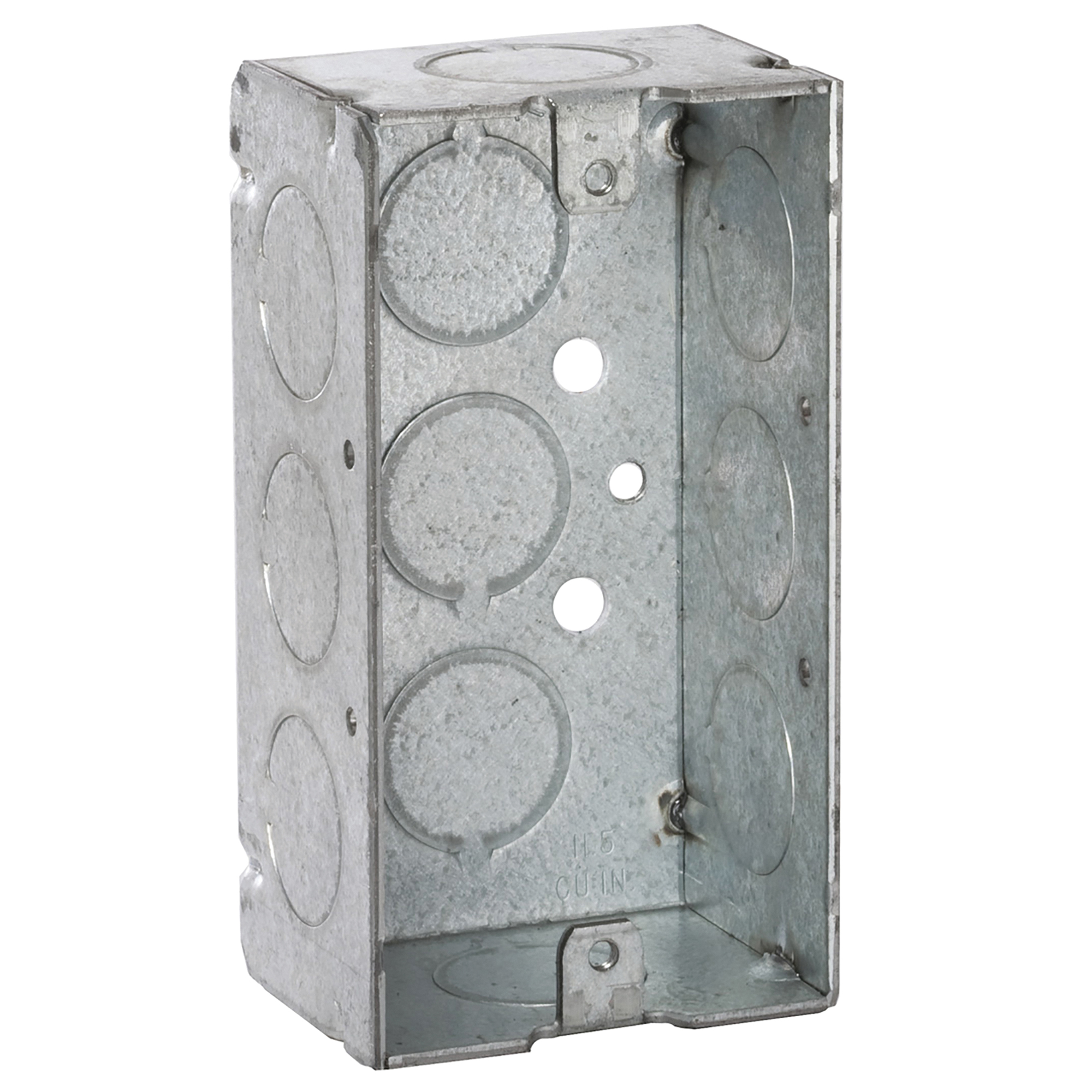 Picture of RACO 8650 Handy Box, 1-Gang, 11-Knockout, 1/2 in Knockout, Steel, Gray