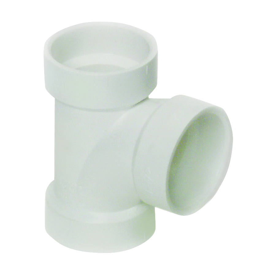 Picture of GENOVA 700 71115 Sanitary Tee, 1-1/2 in, Hub, PVC, White, SCH 40 Schedule