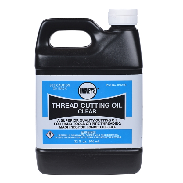 Picture of HARVEY 016100 Thread Cutting Oil, 1 qt Package, Bottle, Clear