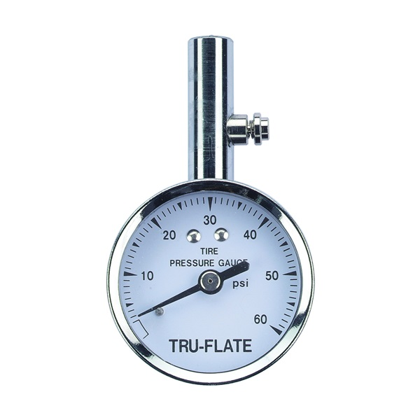 Picture of Tru-Flate 17-551 Tire Gauge, 10 to 60 psi, Steel Gauge Case