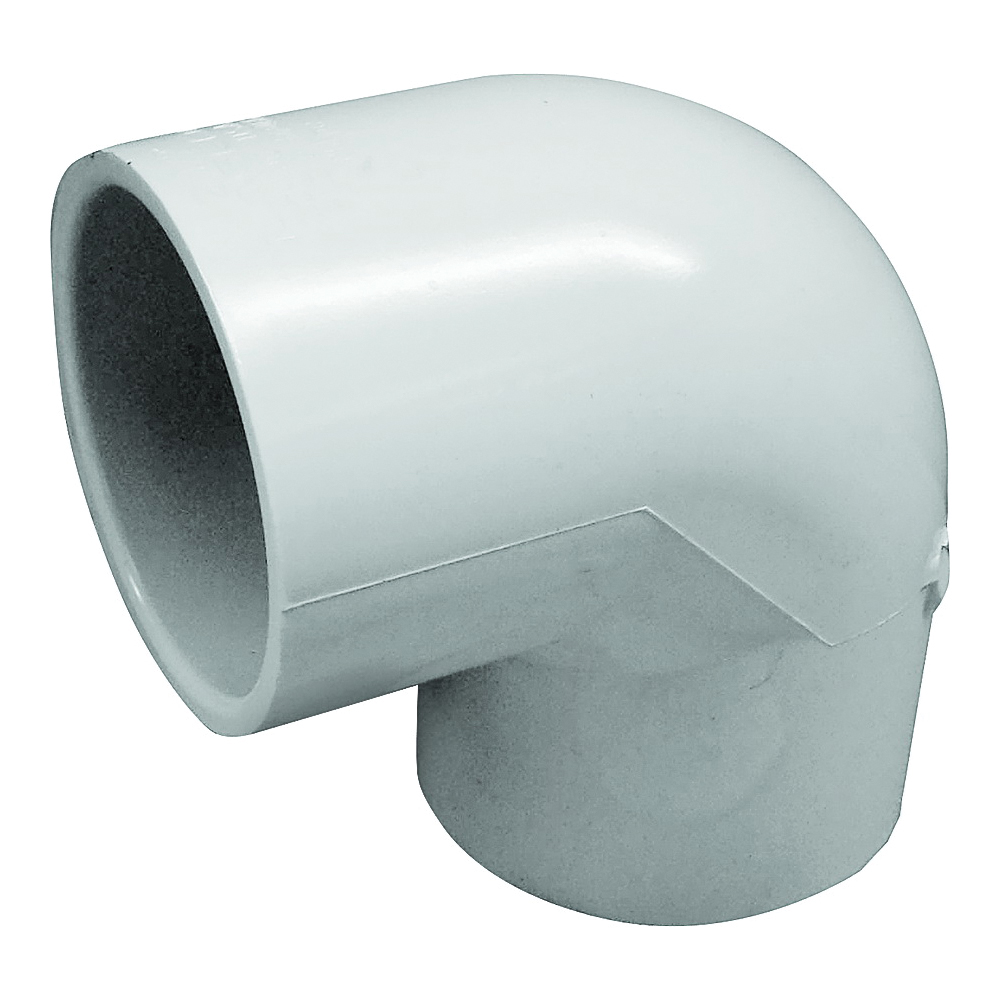 Picture of GENOVA 300 30790 Pipe Elbow, 2-1/2 in, Slip, 90 deg Angle, PVC, White, SCH 40 Schedule