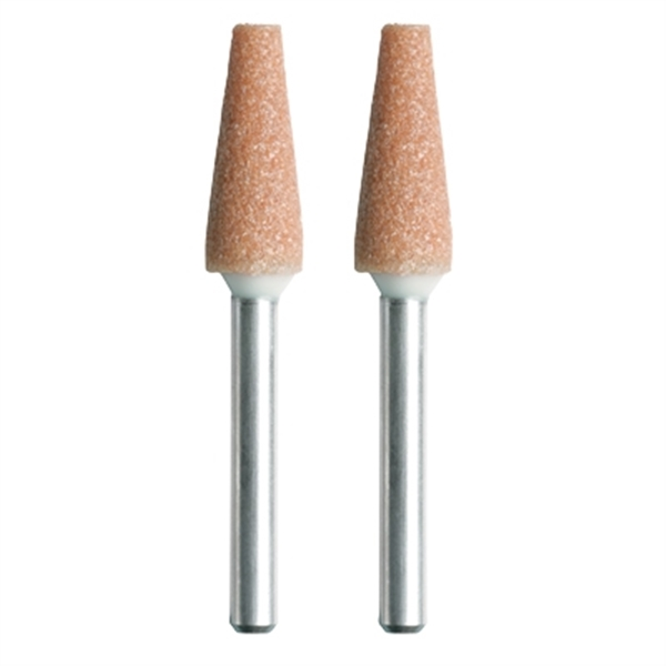 Picture of DREMEL 953 Grinding Stone, 1/4 in Dia, 1/8 in Arbor/Shank, Aluminum Oxide Abrasive