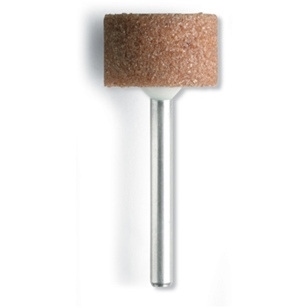Picture of DREMEL 8193 Grinding Stone, 5/8 in Dia, 1/8 in Arbor/Shank, Aluminum Oxide Abrasive