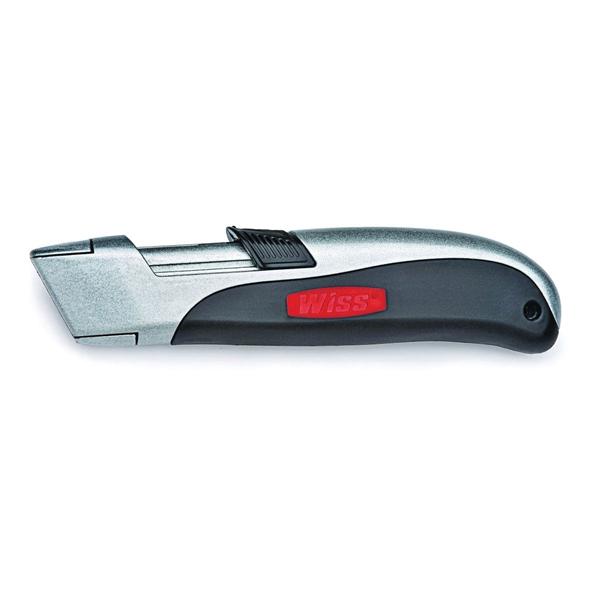 Picture of Crescent Wiss WKAR2 Utility Knife, Ergonomic Handle, Gray Handle