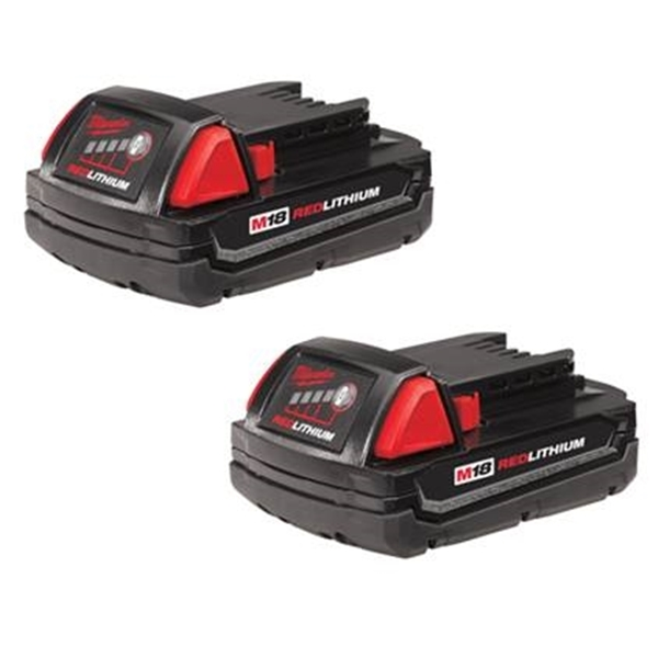 Picture of Milwaukee 48-11-1811 Battery Pack, 18 V Battery, 1.5 Ah