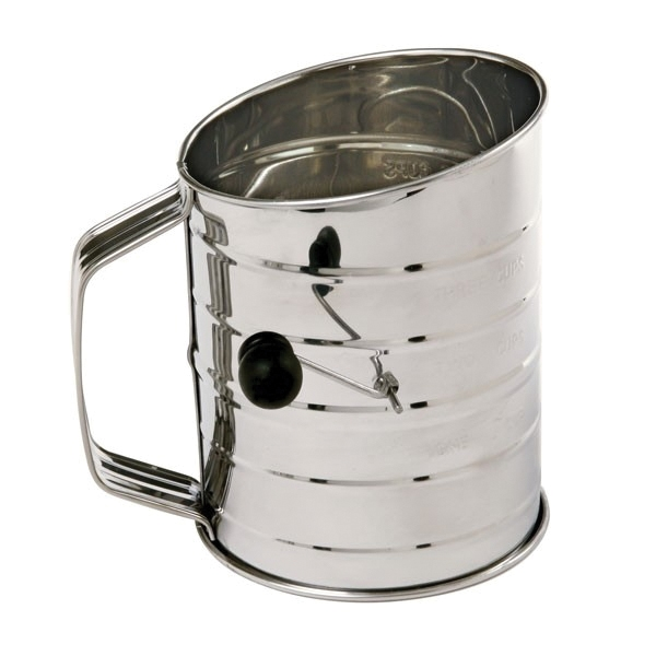 Picture of NORPRO 136 Rotary Flour Sifter, 24 oz Capacity, 6 in H, Stainless Steel