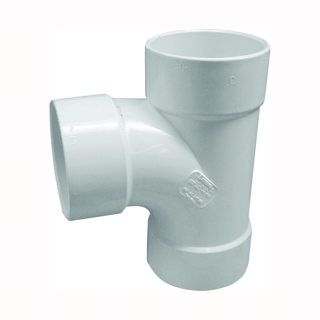Picture of GENOVA 400 41140 Sanitary Tee, 4 in, Hub, PVC, White