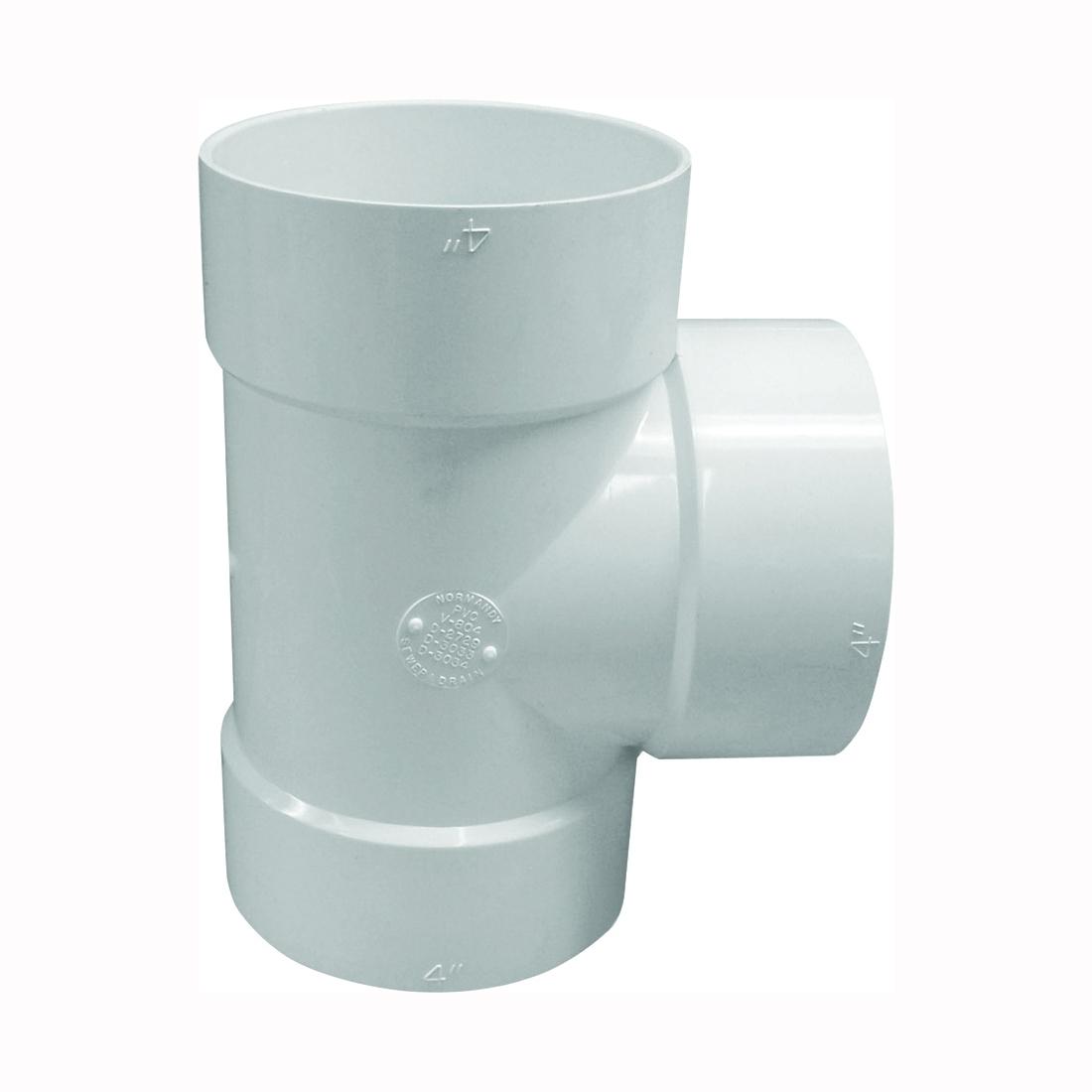Picture of GENOVA 400 41440 Bullnose Tee, 4 in, Hub, PVC, White