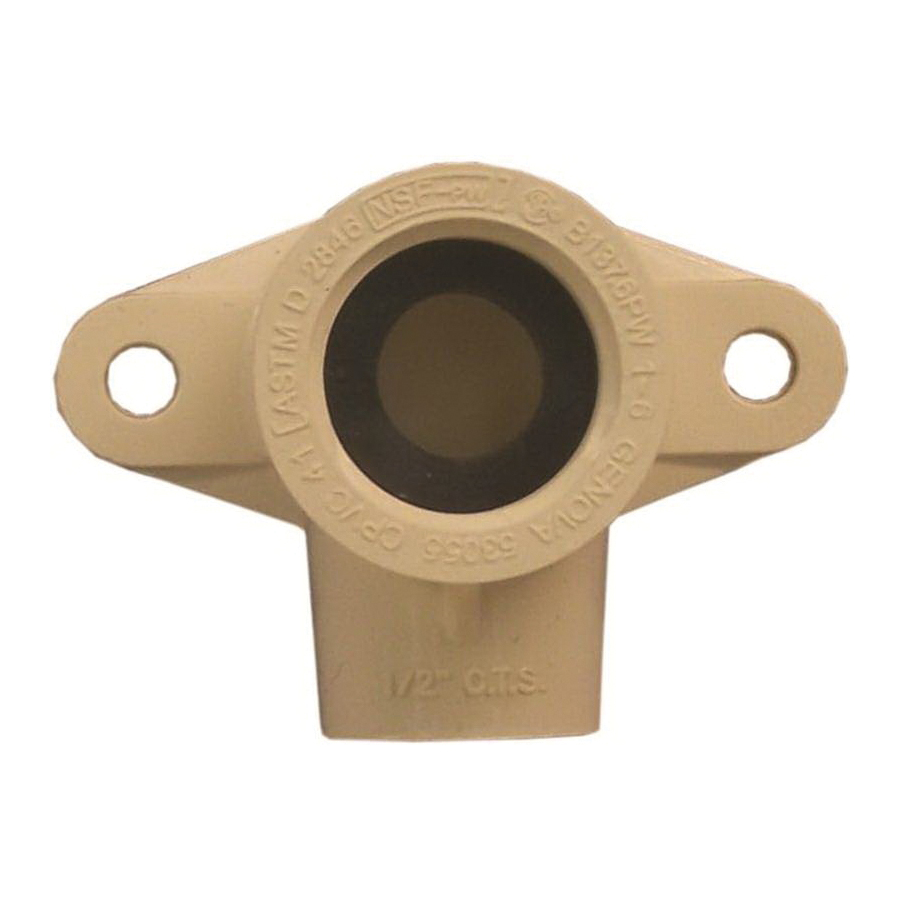 Picture of GENOVA 500 53055 Wing Elbow, 1/2 in, Slip-Joint x FIP, 90 deg Angle, CPVC, 400 psi Pressure