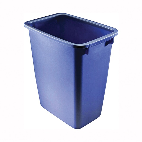 Picture of Rubbermaid 1791162 Waste Basket, 36 qt Capacity, Rectangular, Plastic, Royal Blue, 11 in W, 14-1/2 in D, 18 in H