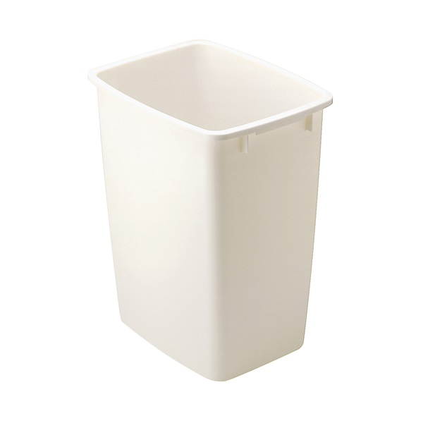 Picture of Rubbermaid 2806 Series FG2806TPBISQU Waste Basket, 36 qt Capacity, Rectangular, Polyethylene, Bisque, 11 in W