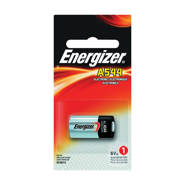 Picture of Energizer A544BPZ Zero-Mercury Alkaline Battery, 6 V Battery, 178 mAh, A23 Battery, Alkaline Manganese Dioxide