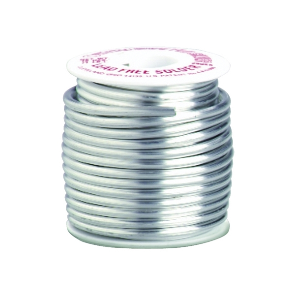 Picture of Oatey Safe-Flo 29025 Wire Solder, 1 lb Package, Solid, Gray/Silver, 415 to 455 deg F Melting Point