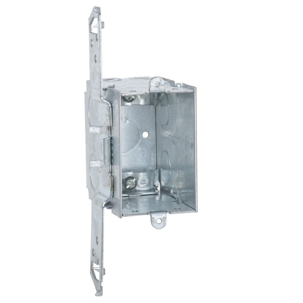 Picture of Orbit GDB-1-NM-FB Gangable Switch Box, 1-Gang, 1-Outlet, 11-Knockout, 1/2 in Knockout, Steel, Gray, Galvanized