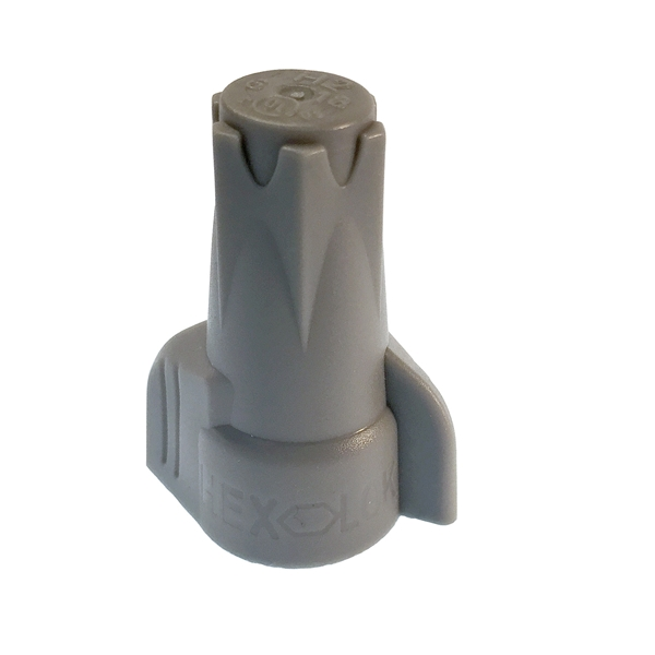 Picture of GB Hex-Lok 19-2H2 Wire Connector, 14 to 6 AWG Wire, Copper Contact, Thermoplastic Housing Material, Gray