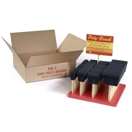 Picture of JEN Poly-Brush PB-1 Foam Brush Display Set, Assortment, 48-Brush