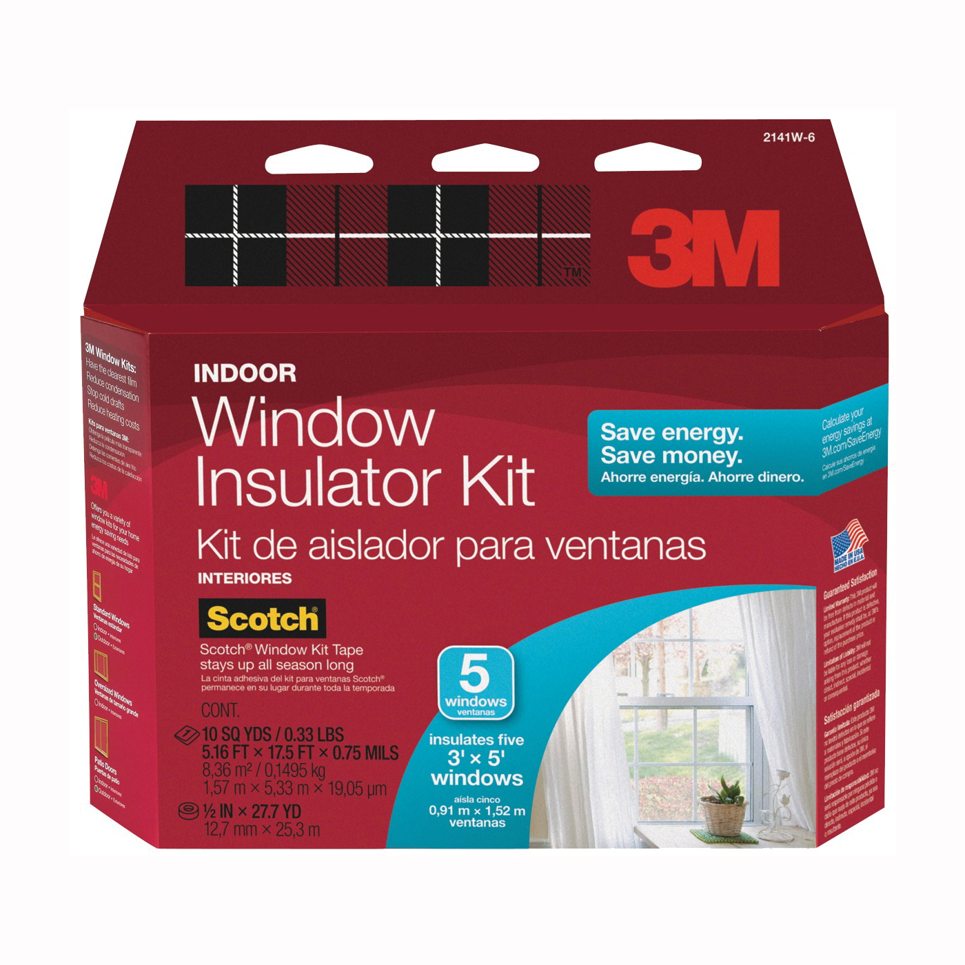 Picture of Scotch 2141 Window Insulation Kit, Clear