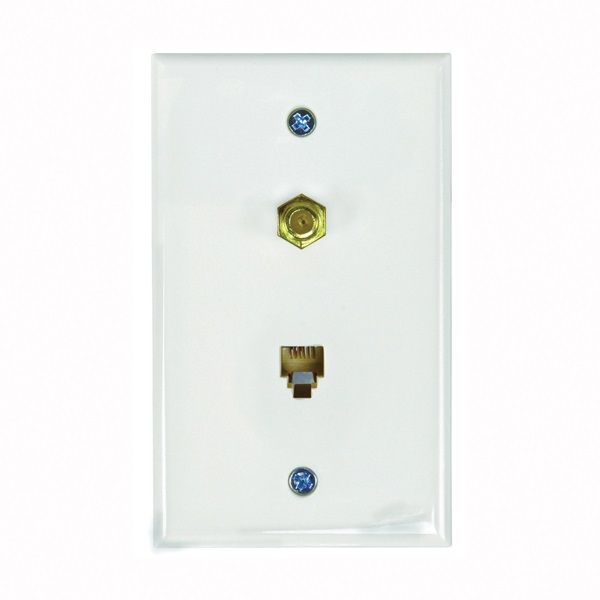 Picture of Zenith TW1002CPW Wallplate, 4-1/2 in L, 2-3/4 in W, White