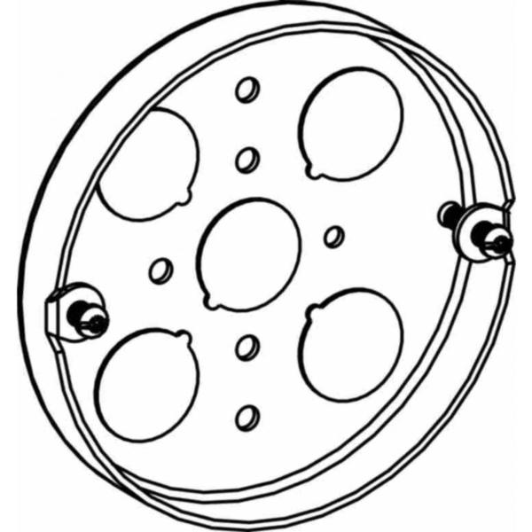Picture of Orbit 4PB Pancake Box, 5-Knockout, Steel, Gray