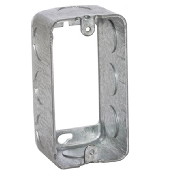 Picture of Orbit HB-1-50-EXT Extension Ring, 1-7/8 in L, 2 in W, 1-Gang, 8-Knockout, Steel, Silver, Galvanized
