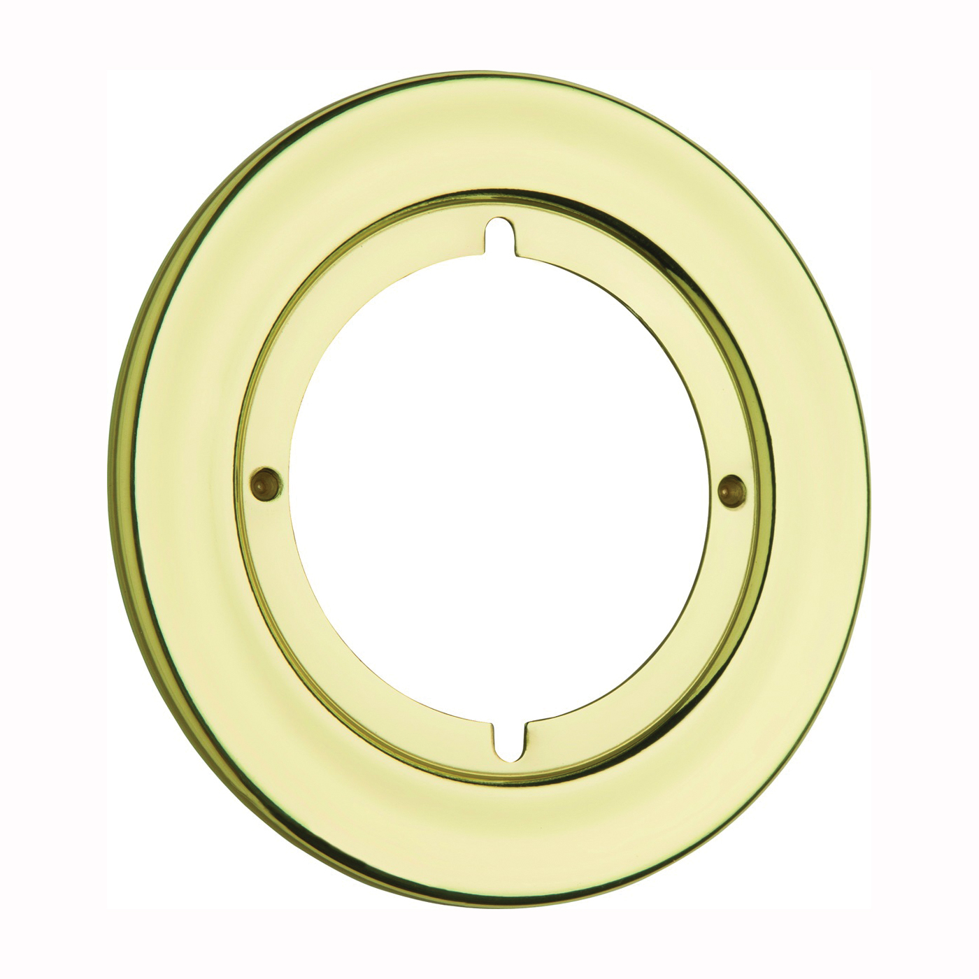 Picture of Kwikset 293 3CP Rosette Trim, Polished Brass, For: 2-3/8 or 2-3/4 in Backset