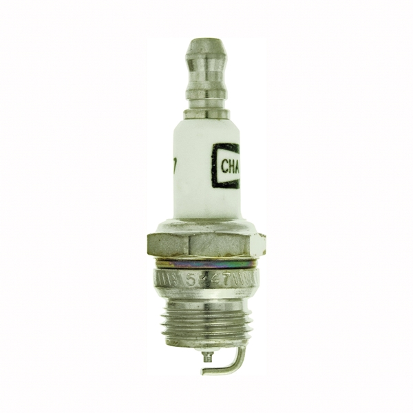 Picture of Champion DJ7J Spark Plug, 0.022 to 0.028 in Fill Gap, 0.551 in Thread, 5/8 in Hex, Copper, For: Small Engines