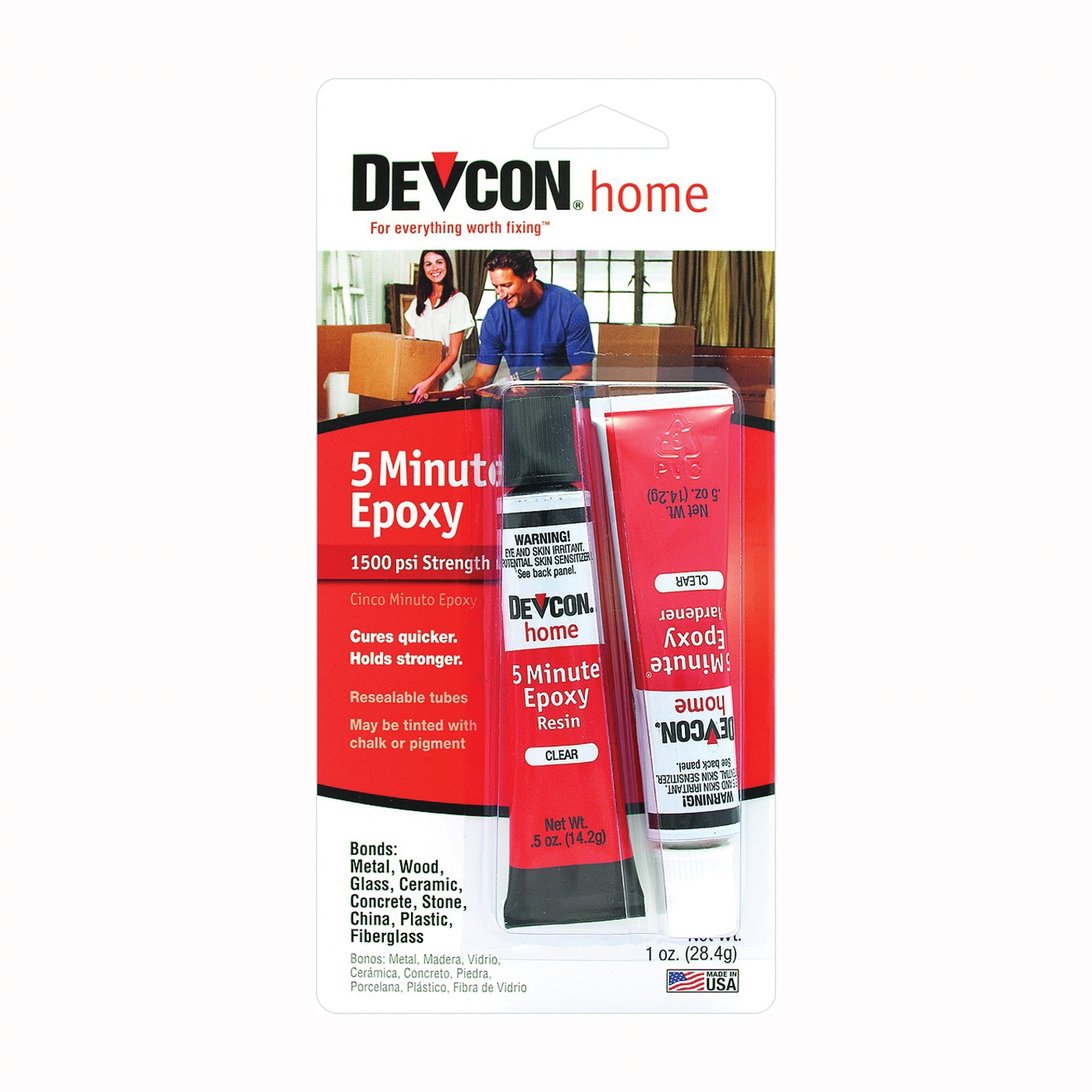 Picture of Devcon 20545 Epoxy Adhesive, Amber, Liquid, 0.5 oz Package, Tube