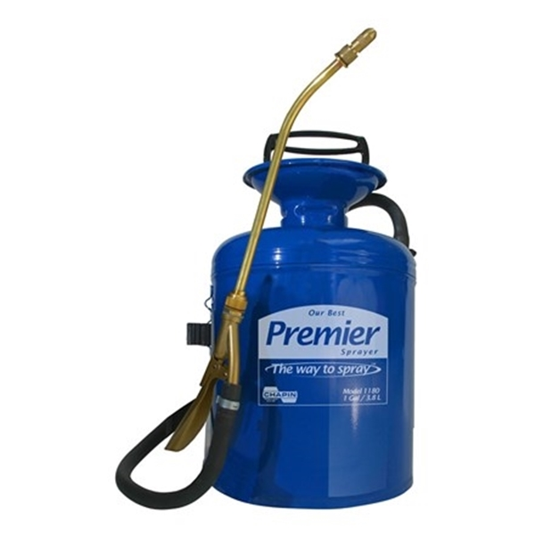 Picture of CHAPIN Premier Pro 1180 Compression Sprayer, 1 gal Tank, Steel Tank, 42 in L Hose, Blue